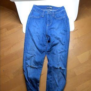 Fashion nova high waisted canopy jeans
